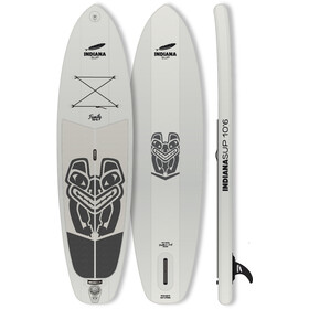 Indiana SUP 10'6 Family Pack Paddle Gonflable avec 3 pièces Fibre/Composite Paddle, grey